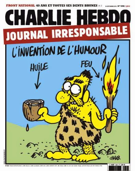 The invention of humor: adding fuel to the fire. —  Charb