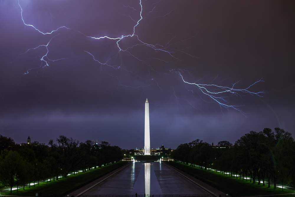 Lightning Over the Monument