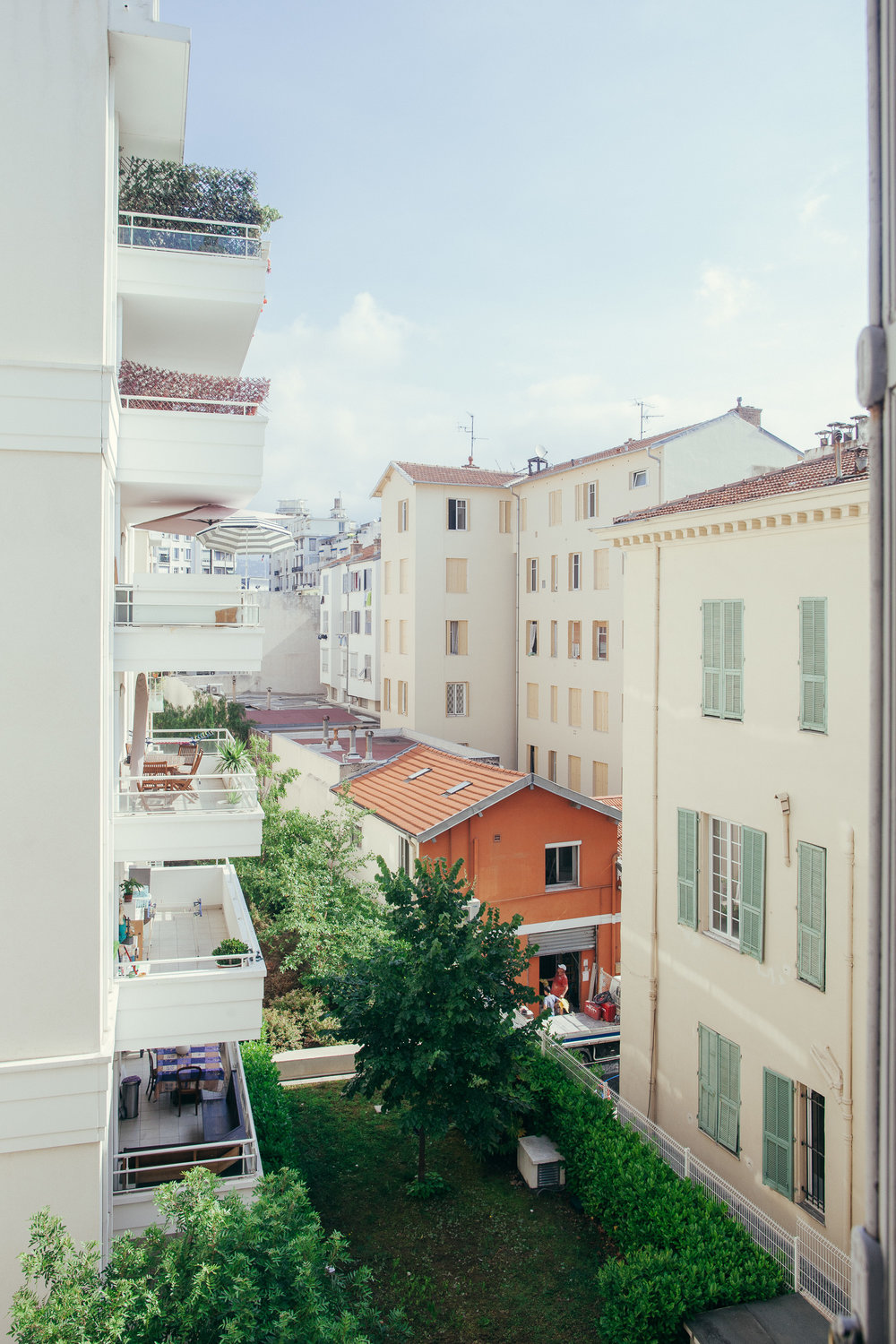 The view from our apartment in Nice, France