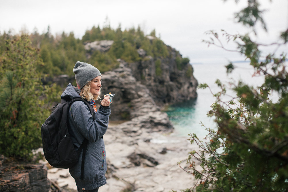 Soaking up the view with a clif bar in hand - exactly perfect.