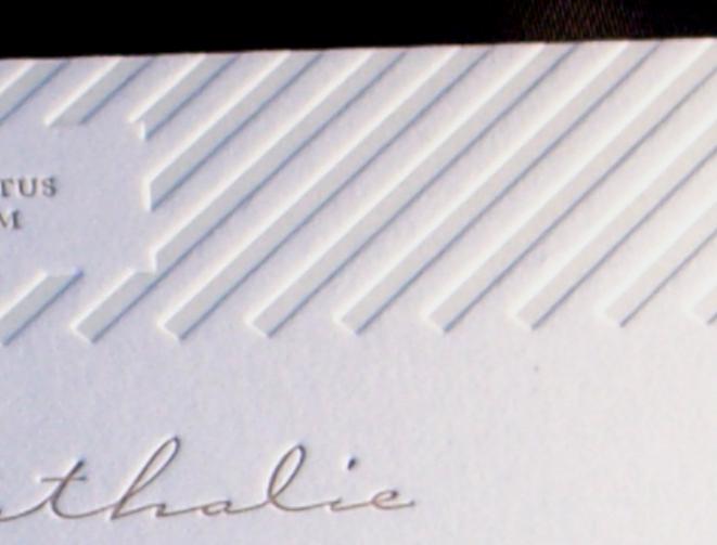 Partecipazione di matrimonio stampata in letterpress a due colori con cliché