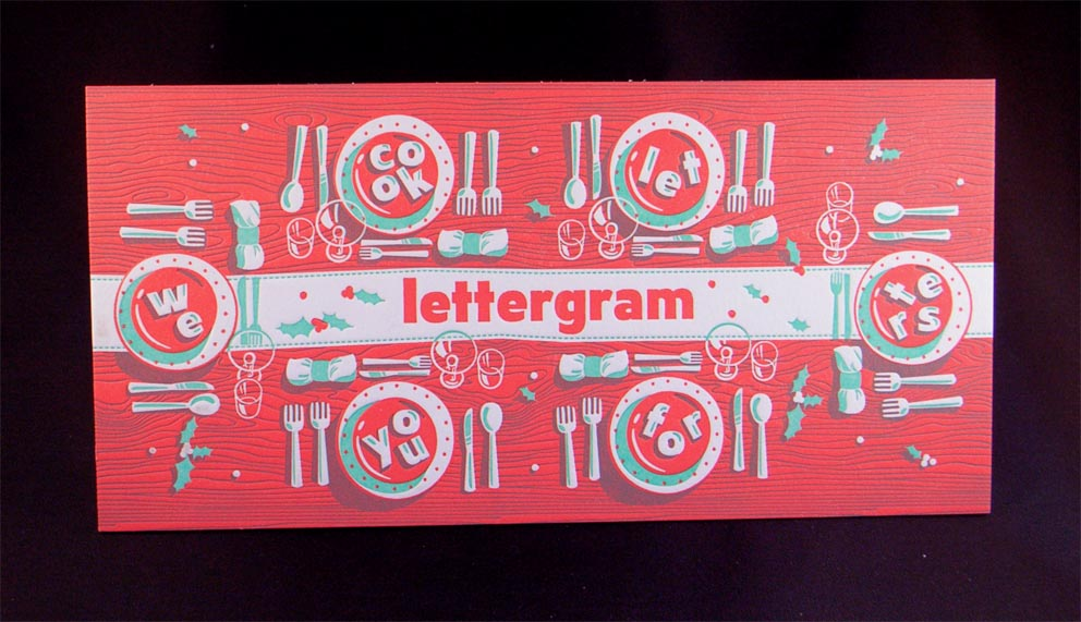 biglietto invito stampato in letterpress a colori