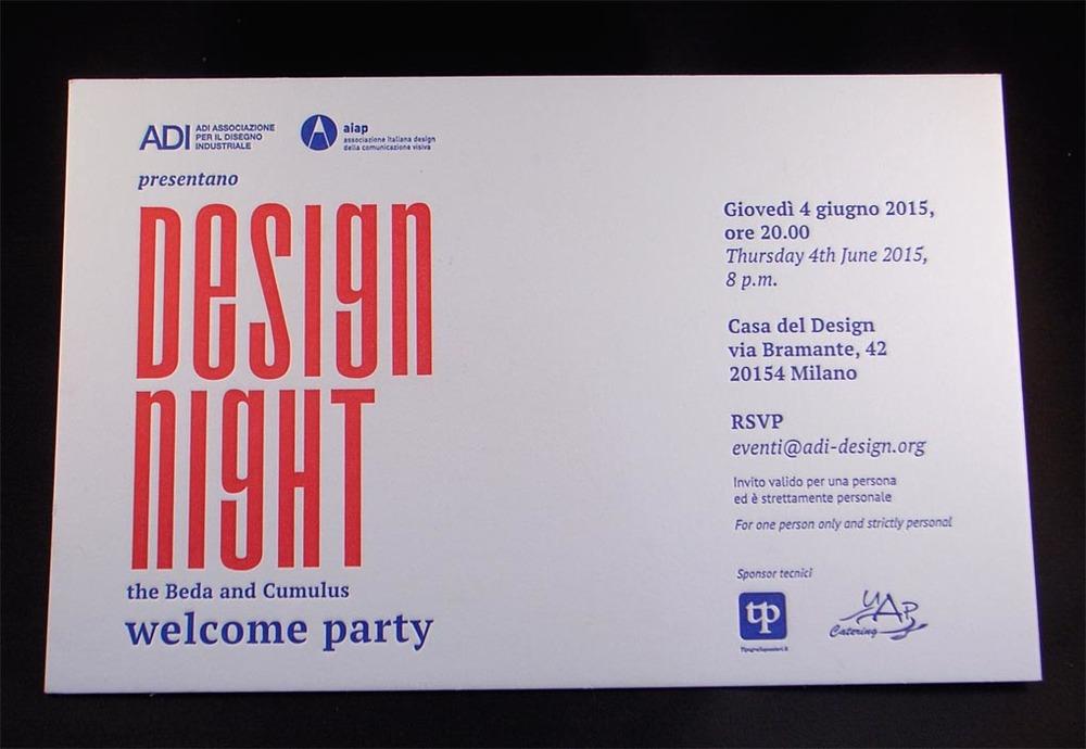 biglietto invito stampato in letterpress a due colori
