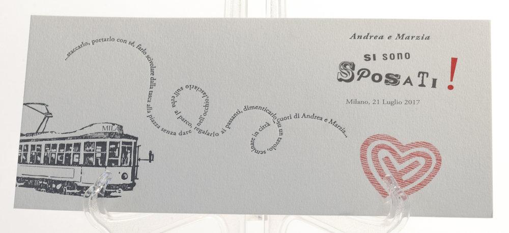 Carta Fedrigoni, Materica Gesso 360 gr, stampa a 1 colore Letterpress + 1 colore in litografia
