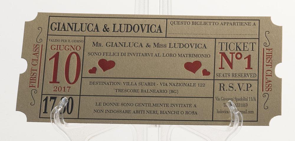 Carta Fedrigoni Materica Kraft 360 gr, stampa Letterpress a 2 colori + fustellatura