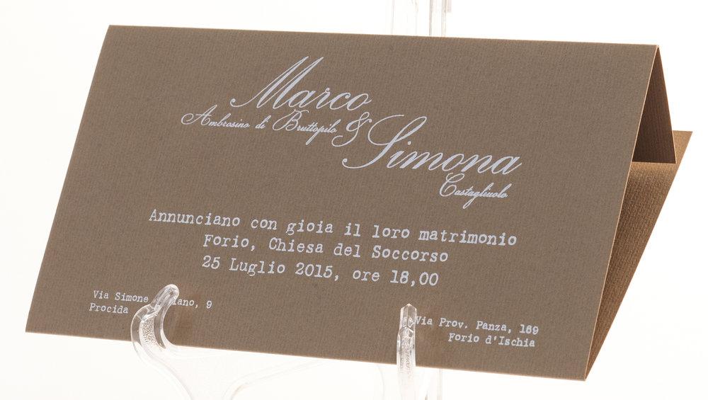 Carta Fedrigoni Notturno Tabacco 280 gr, stampa a 1 colore a caldo