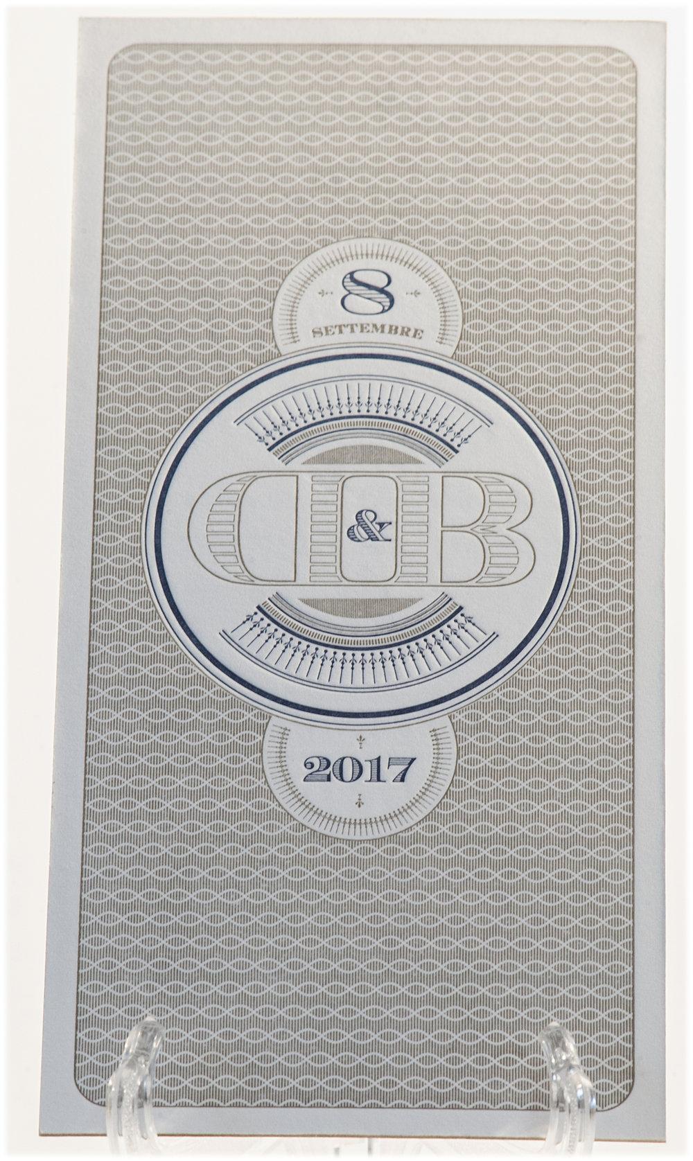 Carta Gmund 900 gr, stampa Letterpress a 2 + 2 colori + labbratura