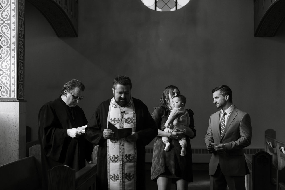 Family Baptism, Milton, Massachusetts