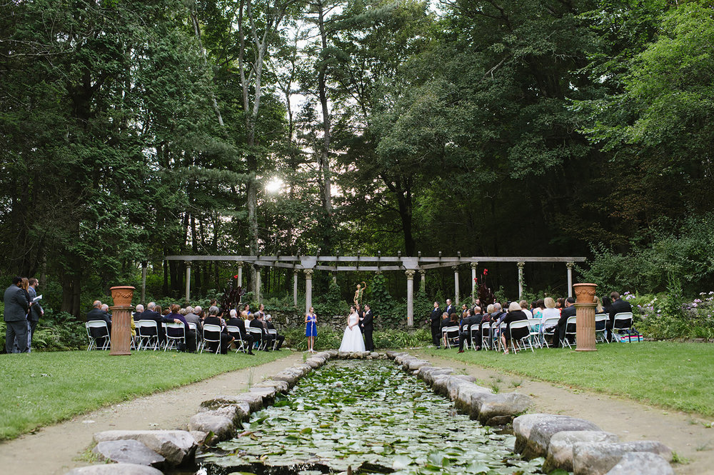 Ceremony location at The Codman Estate