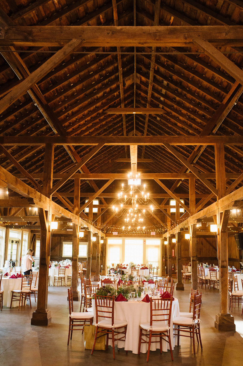 Inside the barn reception Space, Quonquont Farm