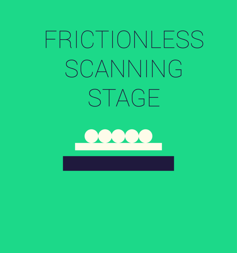 Single's scanning table is a friction-less stage, allowing fast movements of samples.