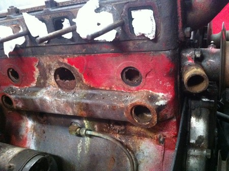 1/2 inch of rust in the block
