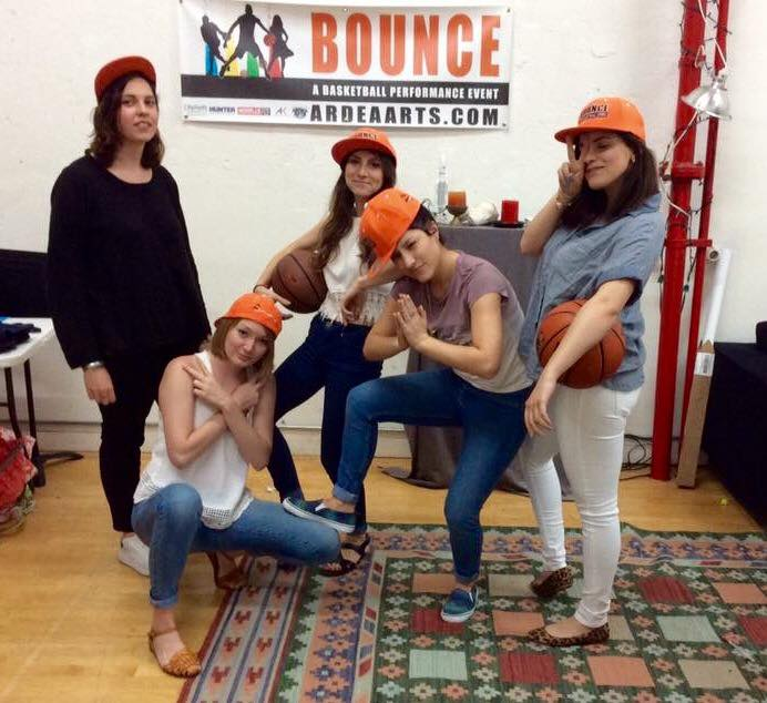 Our Summer 2016 interns pose for a photo in the studio after a long summer's hard work, having helped present three workshops of BOUNCE in East Flatbush, Brooklyn, in its first appearance on an actual basketball court.