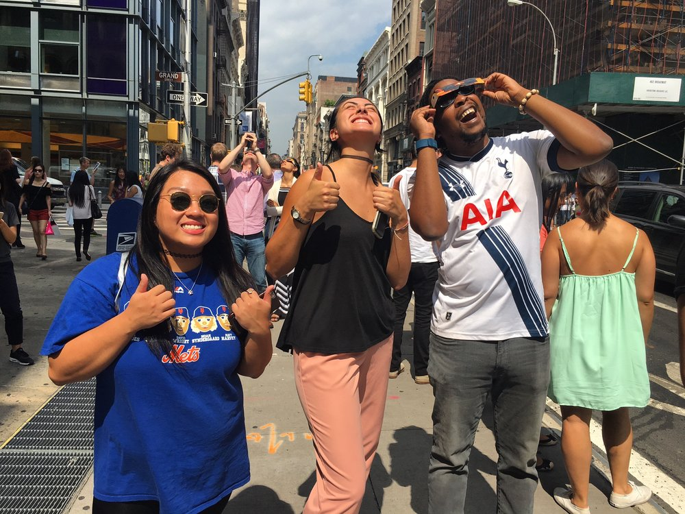 Our Summer 2017 interns took a break from writing and applying for the annual National Endowment for the Arts (NEA) and OPERA America grants to catch the first total solar eclipse in over 40 years!
