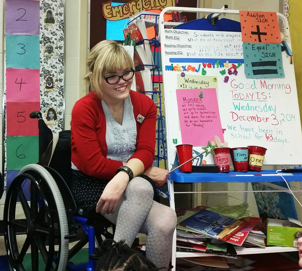Teacher's determination inspires her students by Meredith Cooper