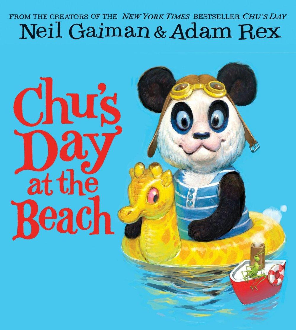 Chu's Day at the Beach By Neil Gaiman & Adam Rex in OutlooK-12 Magazine