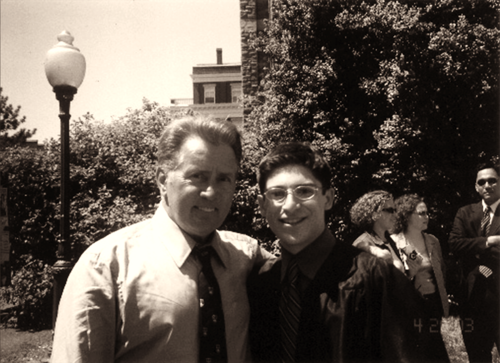 Octavio Gonzalez with his mentor Martin Sheen. Photo Courtesy of Octavio Gonzalez