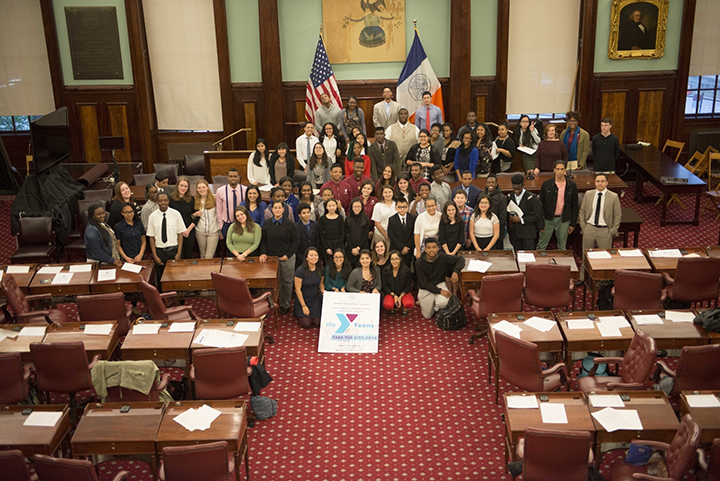 Teens Take the City 2016 (PRNewsFoto/The YMCA of Greater New York)