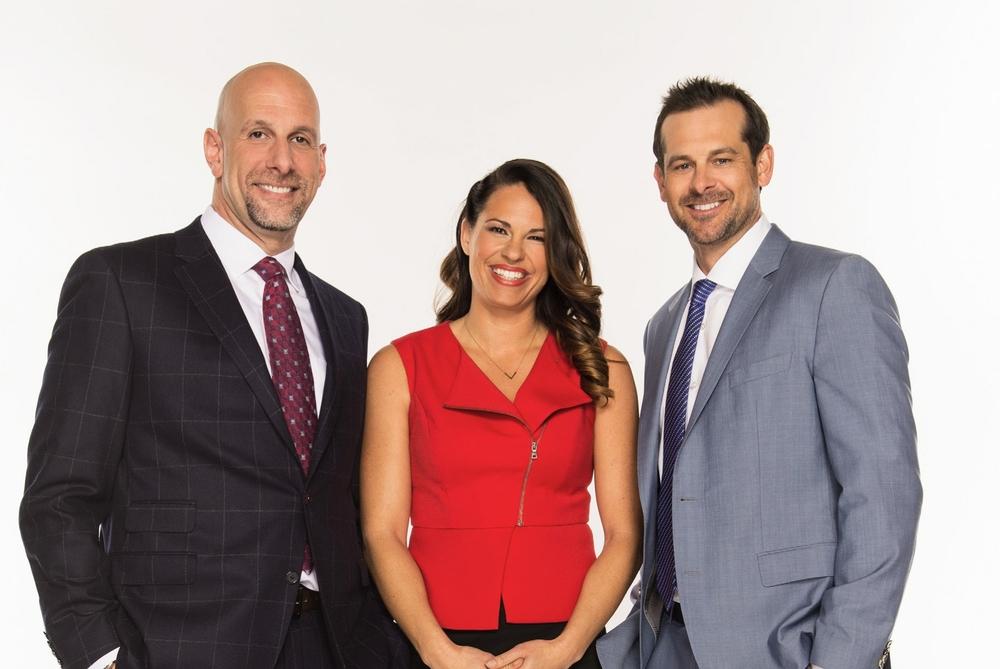 NBC SPORTS GROUP, PRNEWS WIRE COVER Portrait of Dan Shulman, Jessica Mendoza and Aaron Boone