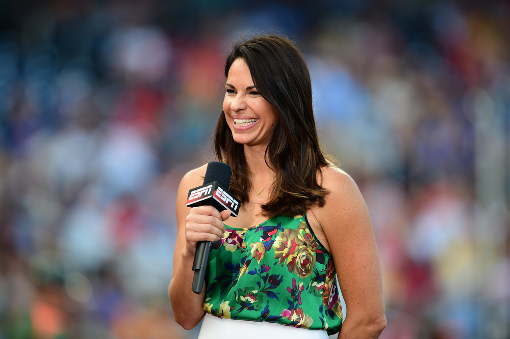 Omaha, NE - June 13, 2015 - TD Ameritrade Park Omaha: Jessica Mendoza during the 2015 College World Series