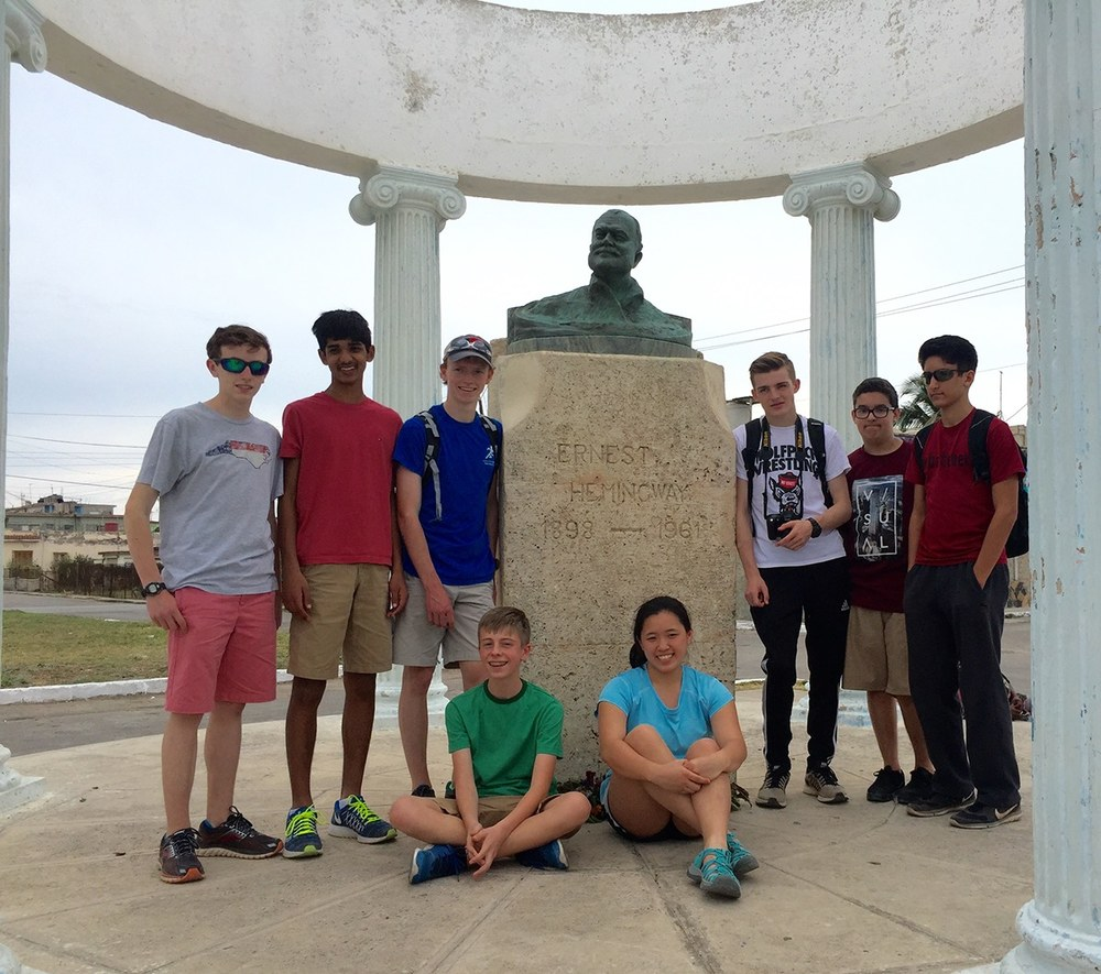 Cary Academy students visit Ernest Hemingway memorial, Cuba – Courtesy of Amy Chang.jpg