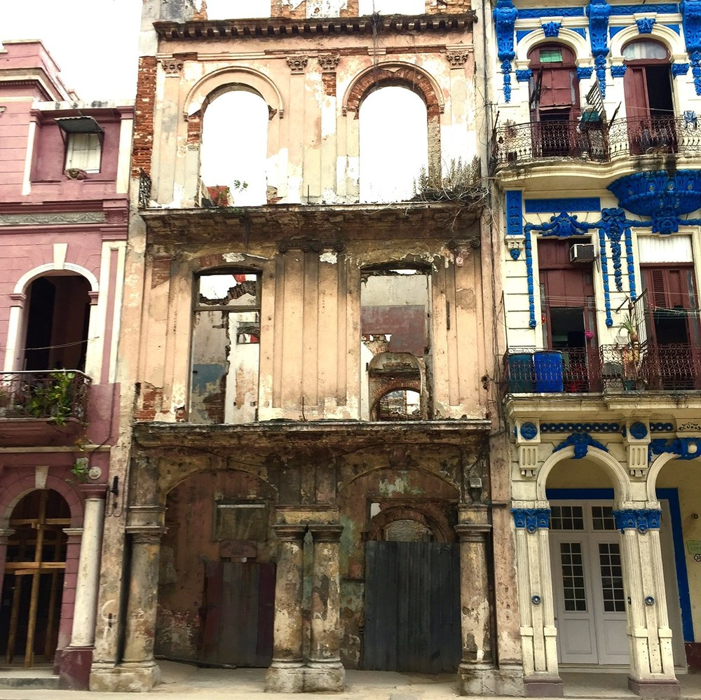 Dilapidated building 3-blocks from the capitol in Havana, Cuba, courtesy of Sally Butler.jpg