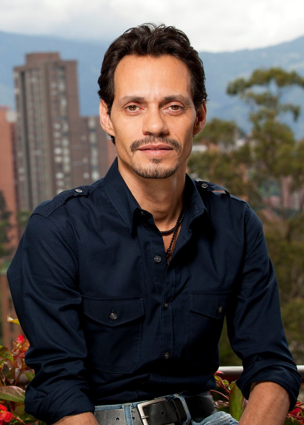 "Marc Anthony, on the set of his show ""Q'VIVA! The Chosen."""
