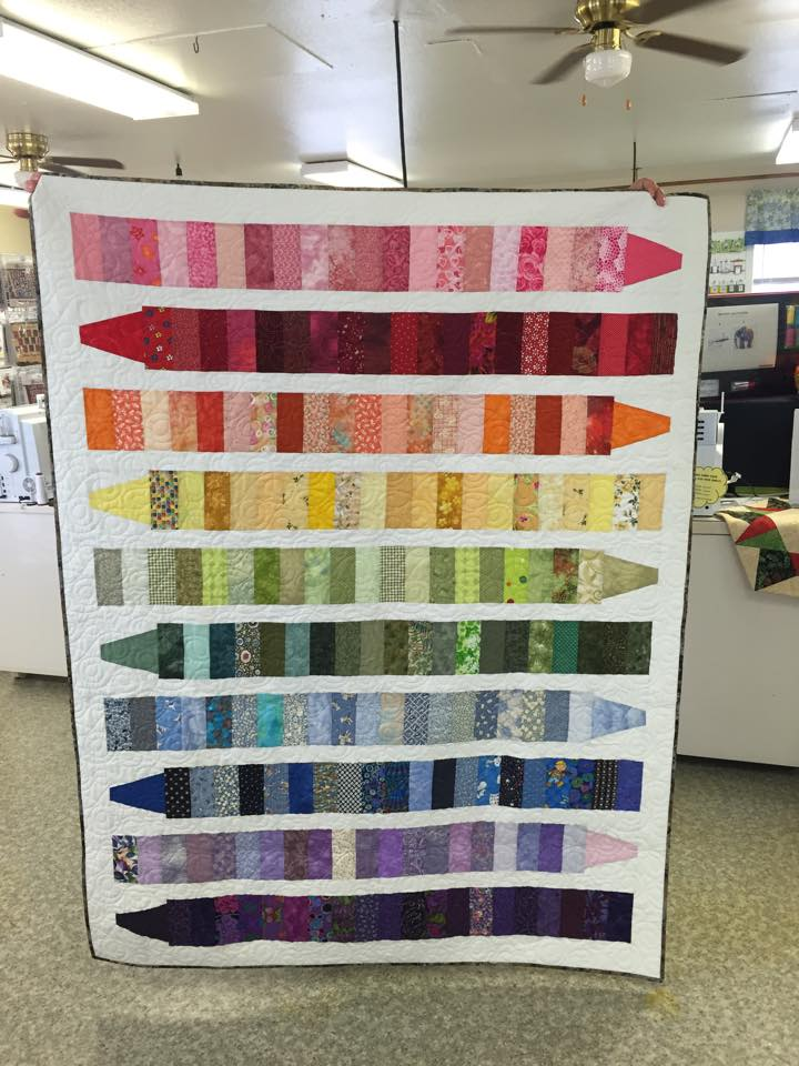 Crayon quilt from Jean