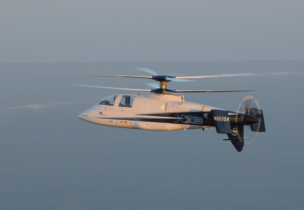 Experimental compound helicopter with coaxial rotors developed by Sikorsky Aircraft. Considered to be the fastest helicopter ever produced, achieving 250 knots (290 mph; 460 km/h) in level flight on September 15, 2010. Wendon slip rings provided strain gauge data on the rotor which assisted Sikorsky in this record-breaking mission.