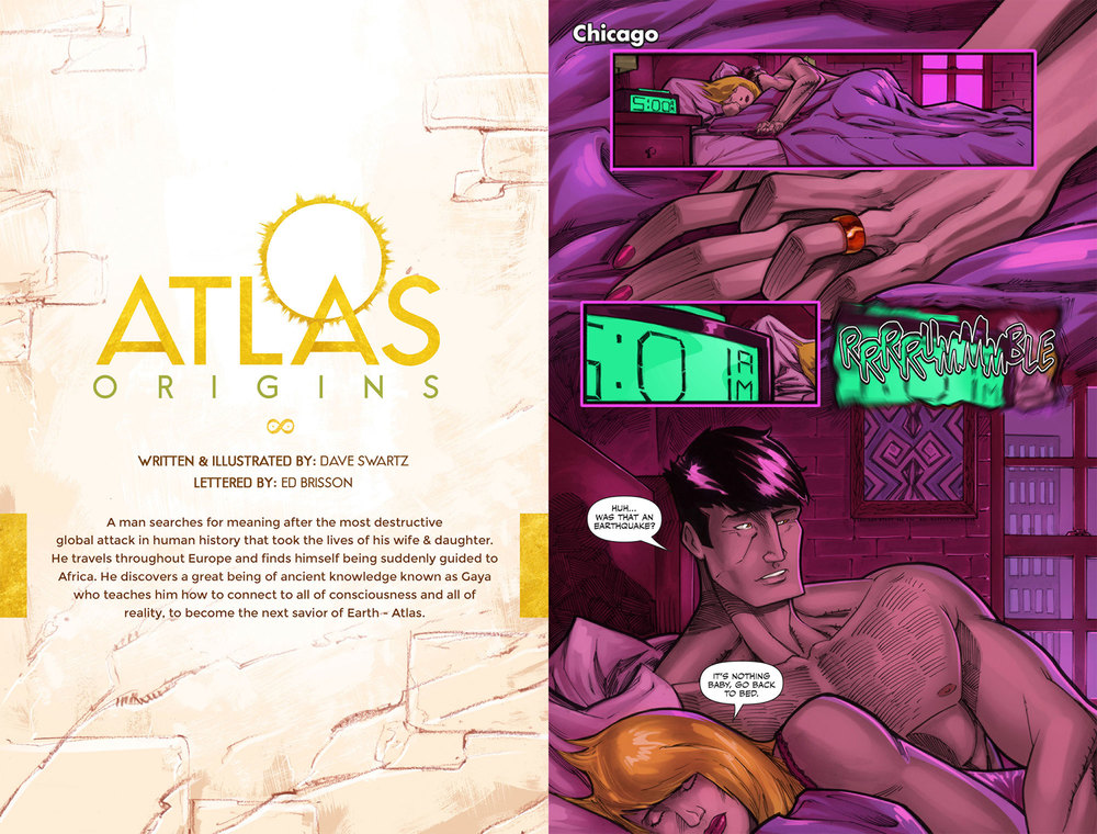 Atlas Origins Issue #1 Title Page & Page 1