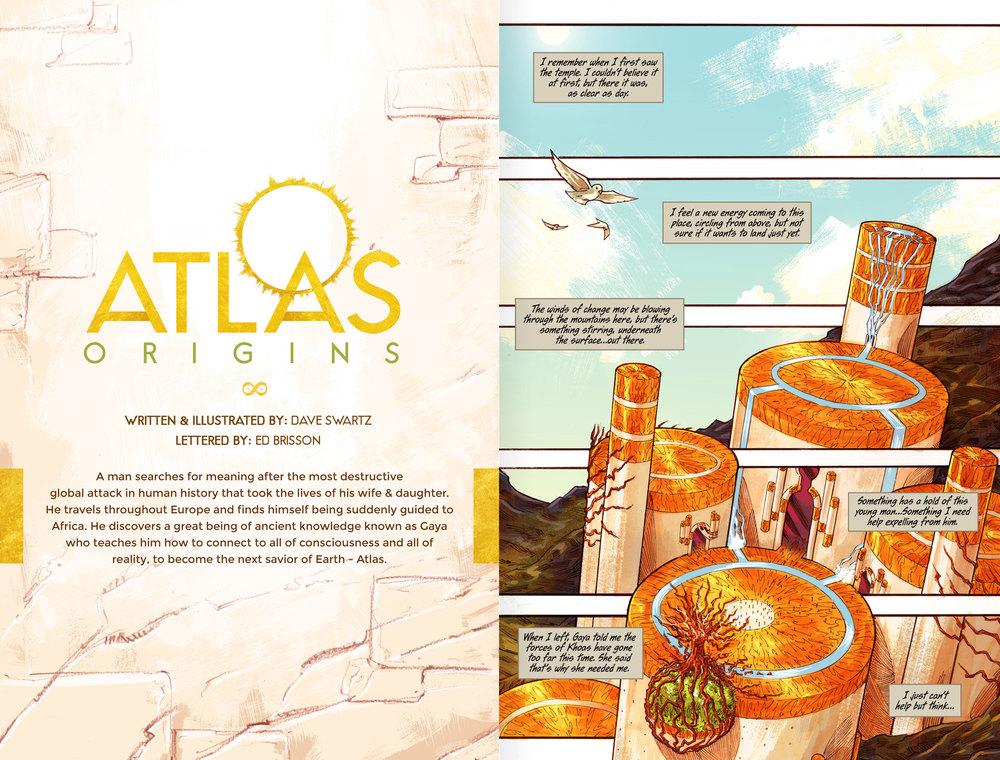 Atlas:ORIGINS Issue #3 - Spread 1