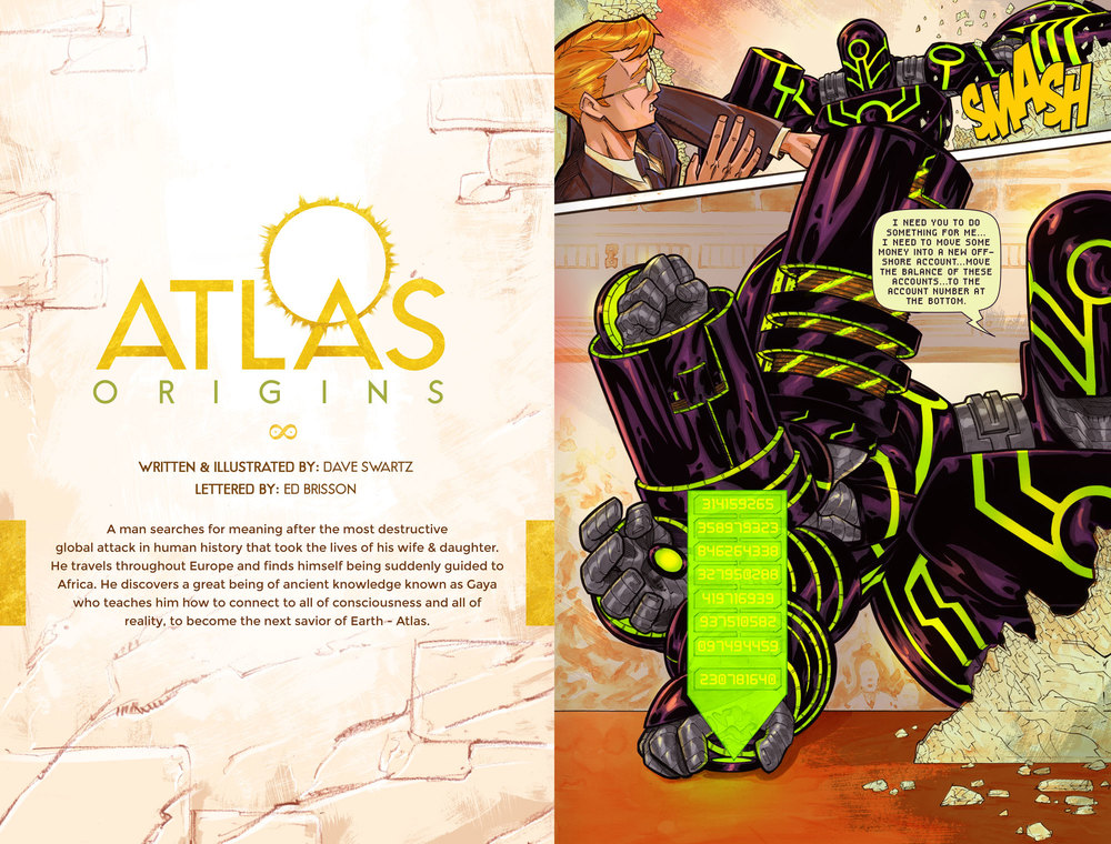 Atlas:ORIGINS Issue #4 - Pages 1 & 2