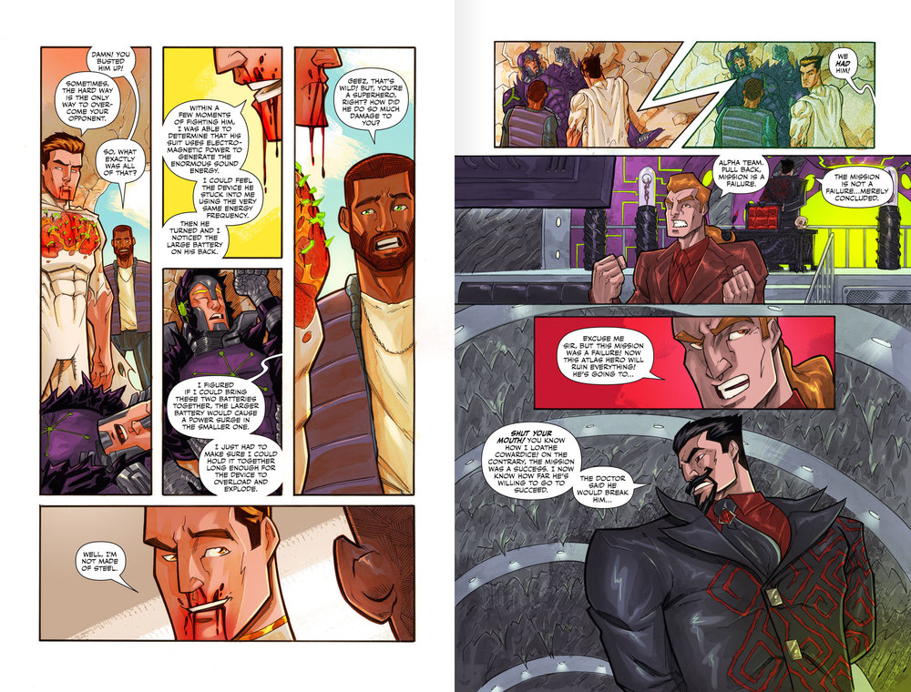 Atlas:ORIGINS Issue #4 - Pages 17 & 18