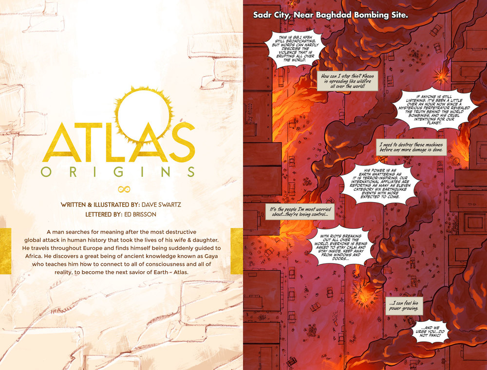 Atlas:ORIGINS Issue #6 - Sneak Preview - Spread 1