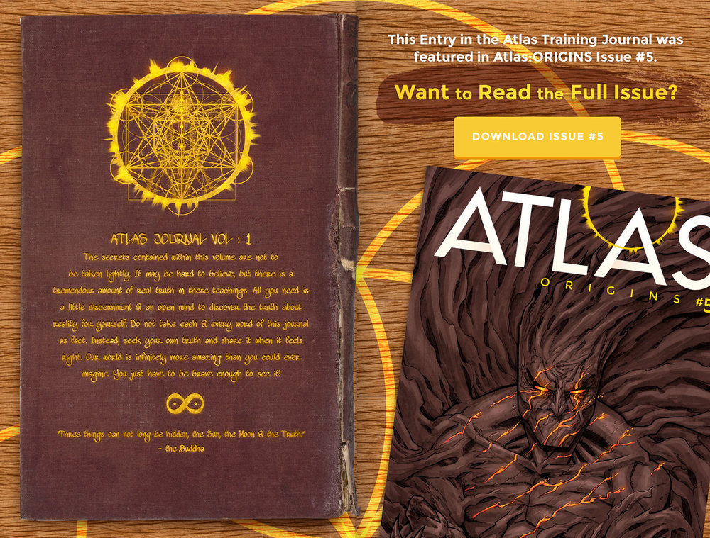 Atlas Training Journal - Day 8 Back Cover