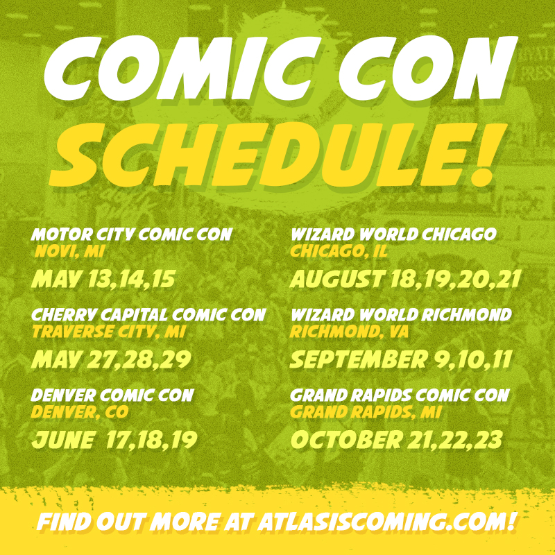 Atlas Comic Con Schedule