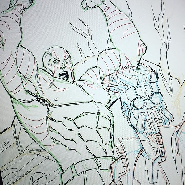 Star Lord better watch his back. #drax #starlord #guardiansofthegalaxy #sketching #daveswartzart #marvel