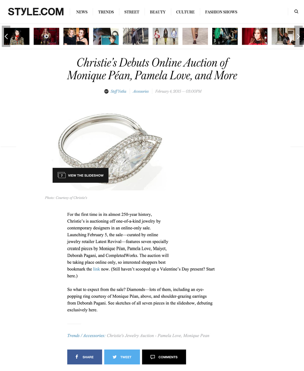 Style.com Vogue USA Completedworks jewellery