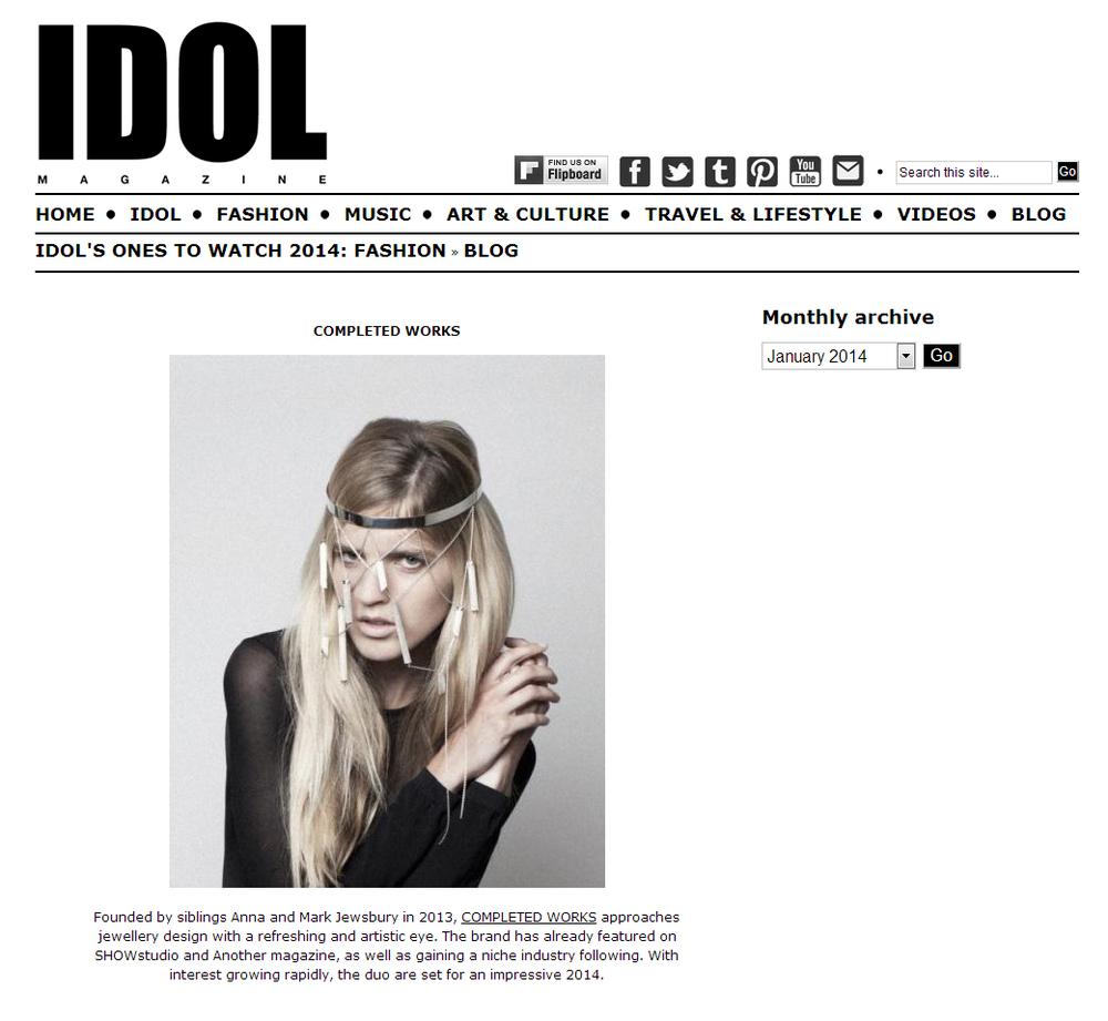 Idol Magazine Completedworks