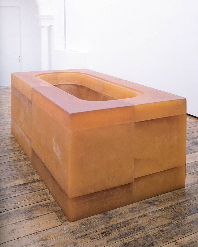 Rachel Whiteread's Untitled (Orange Bath) #1996 #rachelwhiteread