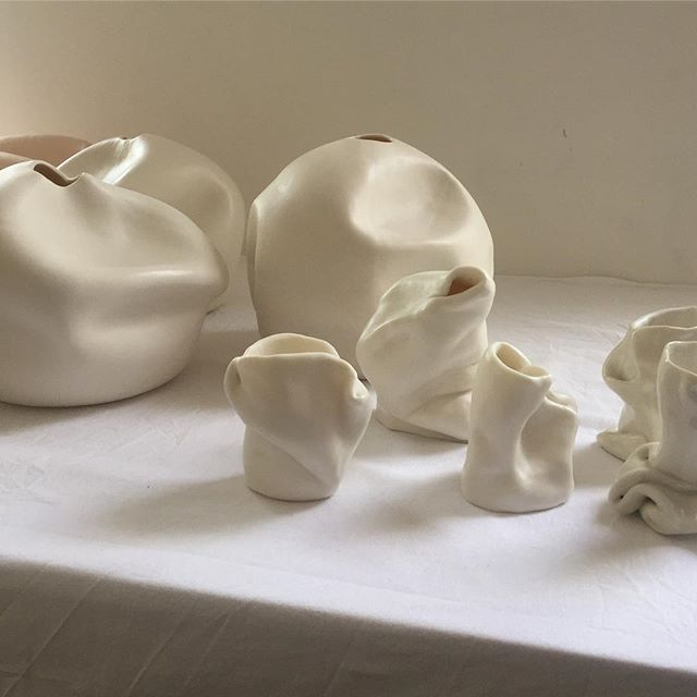 Last day of #LFW | Presenting Fold, a collection of fine jewellery and ceramic vases, developed in collaboration with artist @yekate #ceramics
