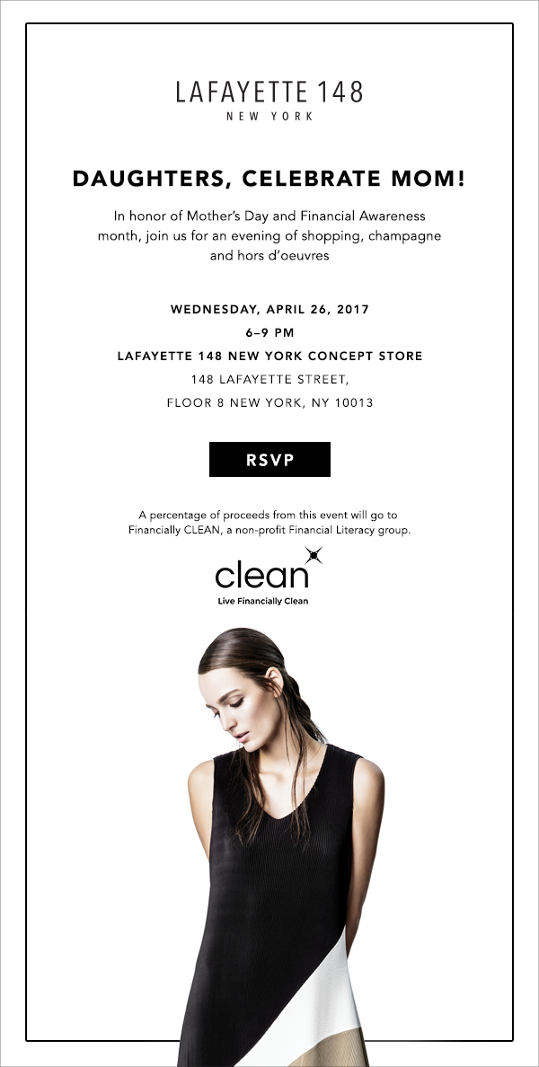 Lafayette 148 NY and Financially CLEAN come together for a magical night!