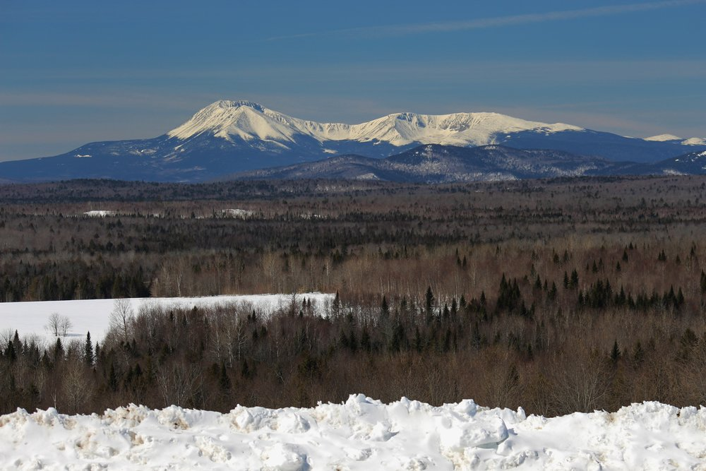 North side of Katahdin from Ash Hill, Patten, ME.