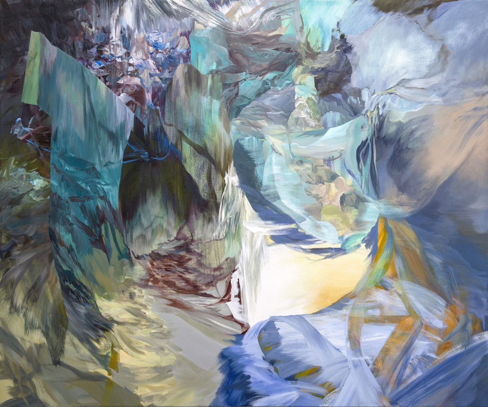 """Foxhole"", acrylic on canvas, 60"" x 72"", 2015"