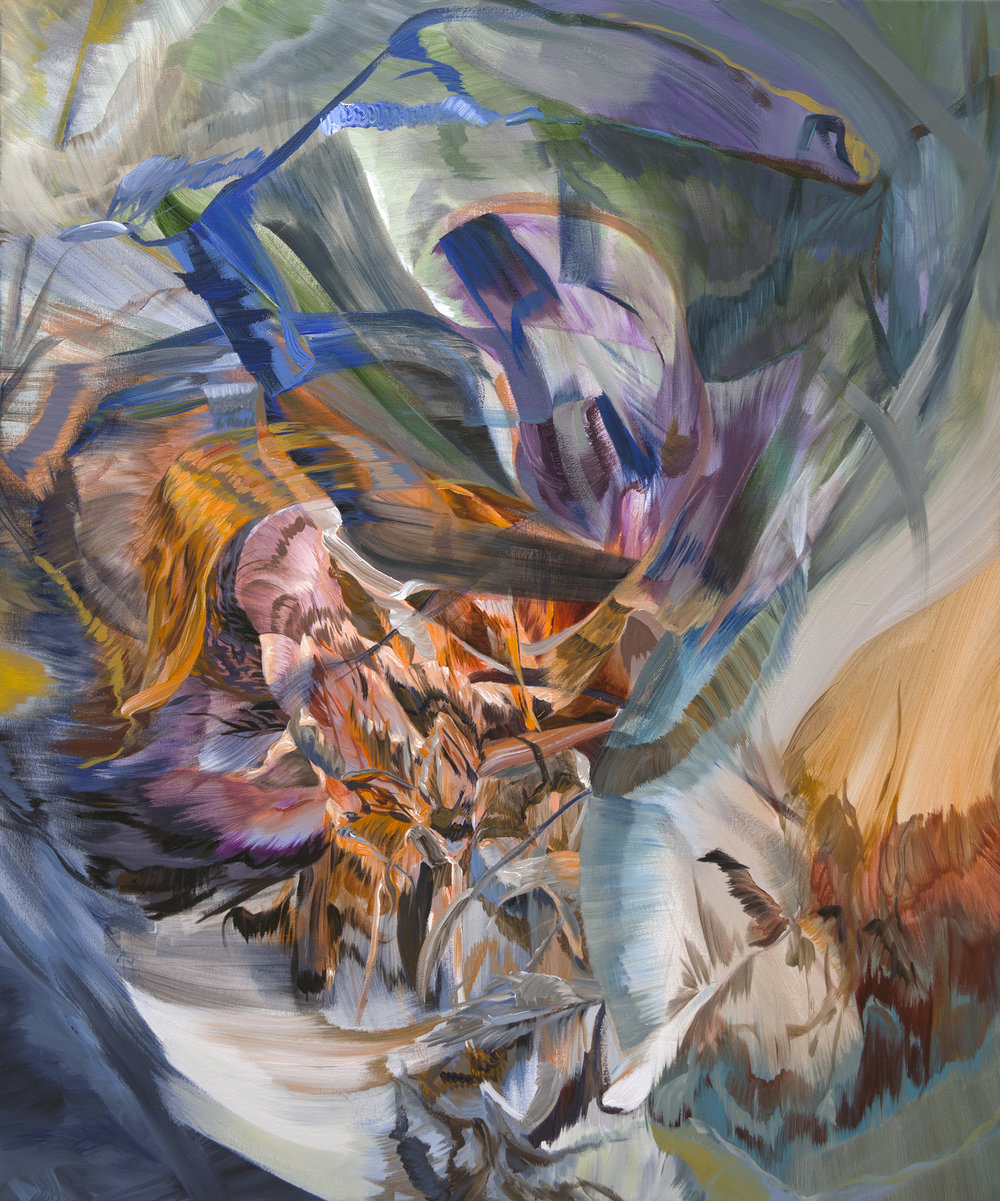 "Fire Spitter            acrylic on canvas, 43"" x 36"""