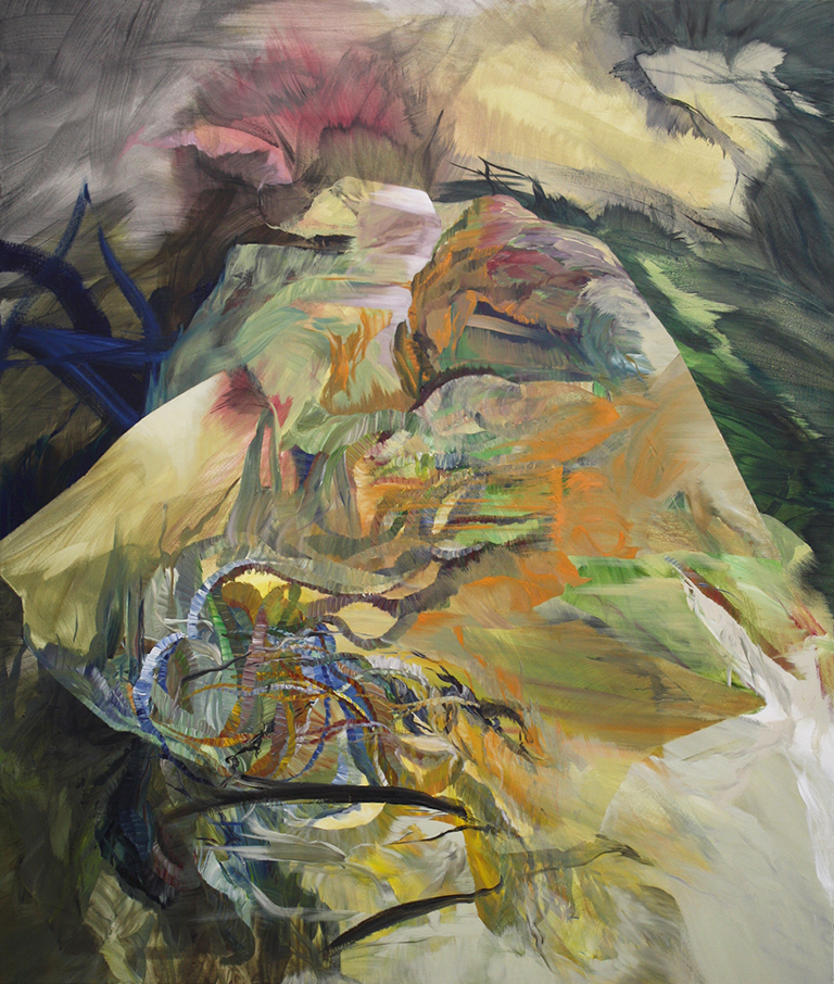 """Mound, acrylic on canvas, 167.6 x 142.2 x 5 cm, 2014 - Ottawa Art Gallery Collection"