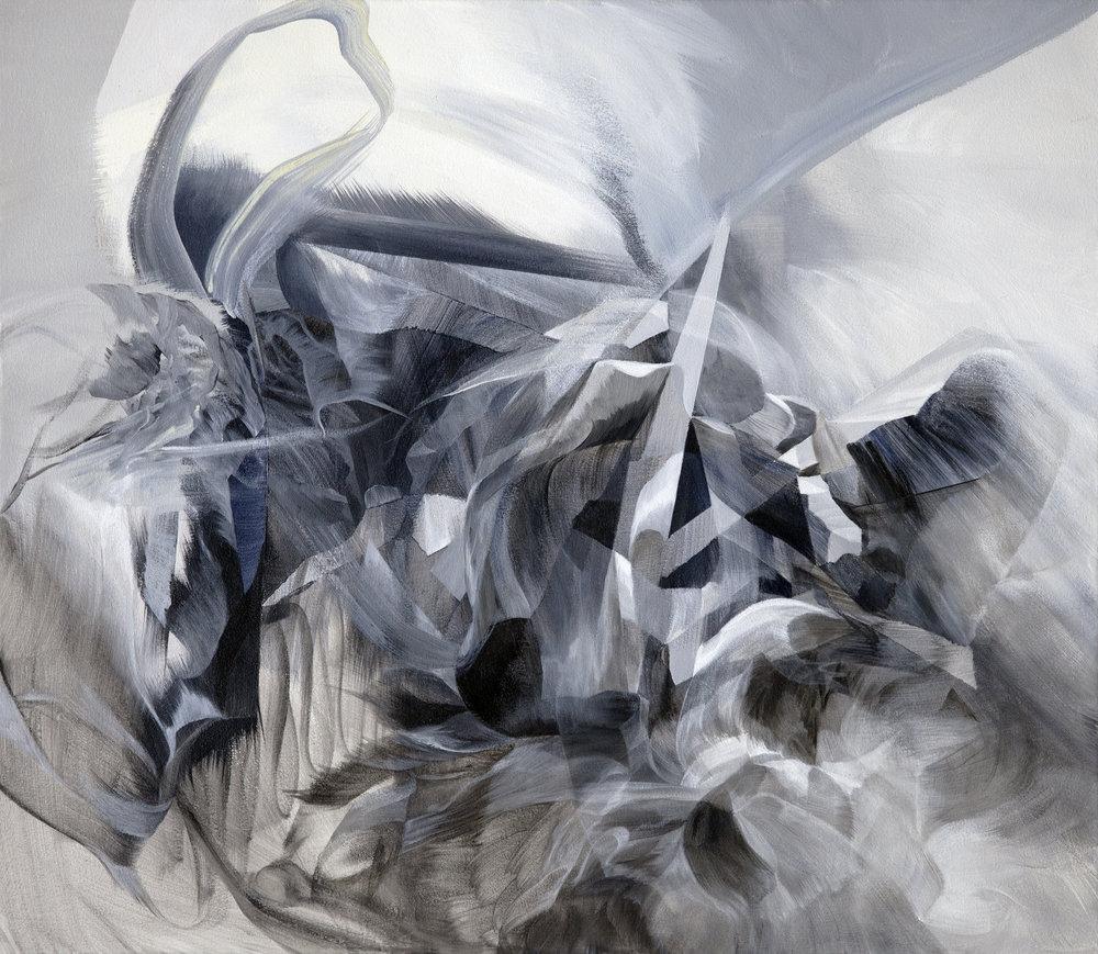 "Stygian Isle    acrylic on canvas  26"" x 30"""