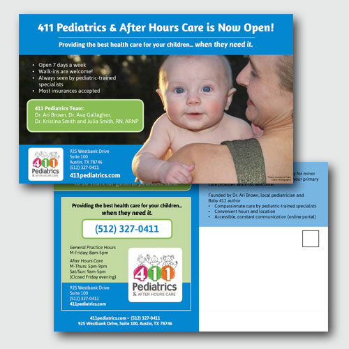 411 Pediatrics Mailer and Magnet