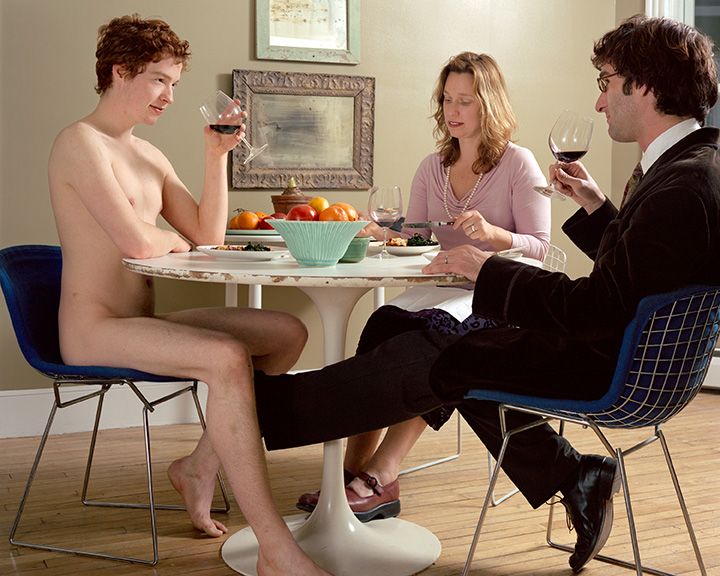 Noah Krell,  The Dinner Guest,  2006, Ink jet print, 36 x 48 inches        (That's me in the picture!)