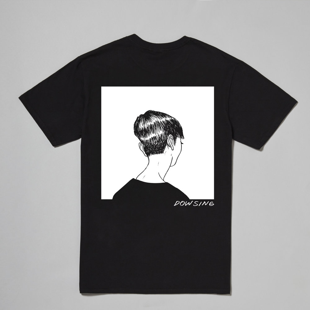 One of the t-shirt designs reserved for the limited edition run created for the European section of their tour. Dowsing wanted to work with a monochromatic theme to highlight the line work of the illustrations.